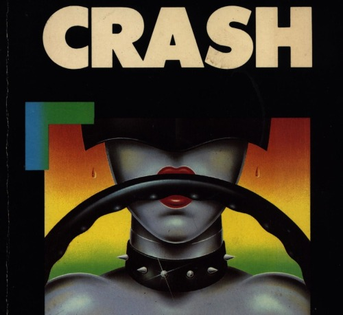 Cover detail of Crash by J.G. Ballard (1973) (illustration: James Marsh; Triad, 1985 ed.).