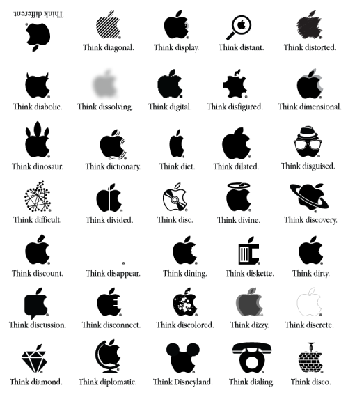 """Think different"" (Apple tribute poster) by Viktor Hertz"