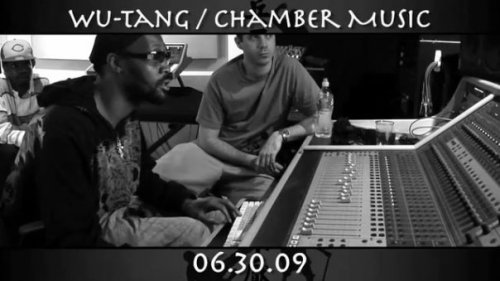 "In the studio with Rza, finishing up Wu-Tang ""Chamber Music"""