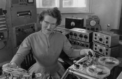 "npr:  Daphne Oram (1925-2003) was a pioneering electronic musician and sound  engineer at the famed BBC Radiophonic Workshop. The Young Americans label has just issued a luxurious 4 LP  vinyl collection drawn from Oram's massive sound archives. ""The Daphne  Oram Tapes"" includes 46 tracks, a total of 2.5 hours of previously  unreleased material. And this is just volume one! (via Electronic pioneer Daphne Oram recordings now available - Boing Boing)"