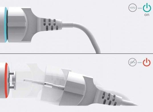 iammikewilson:  The PumPing Tap is a wall socket that aims to eliminate the waste of phantom power.  The socket will eject the plug automatically when not in use to save power. Full story on Inhabitat