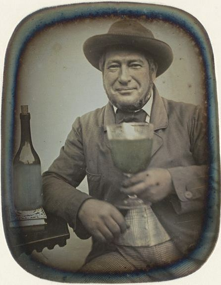 ca. 1840-50, [portrait of a gentleman with a glass of wine], Barthélemy Thalamas via the Musée d'Orsay