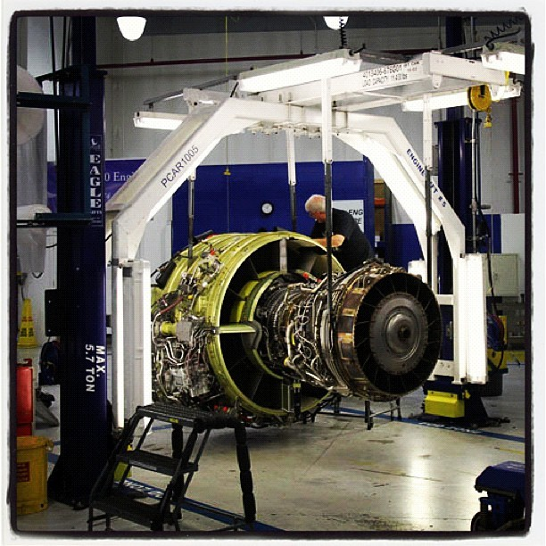 A CFM56-7 #engine being worked on at #GE #Aviation in Peebles, OH. (Taken with instagram)