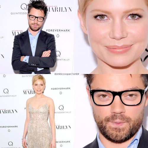 Dominic Cooper & Michelle Williams at the 'My Week With Marilyn' New York Premiere (Edited by me, Dominic Cooper Fansite)