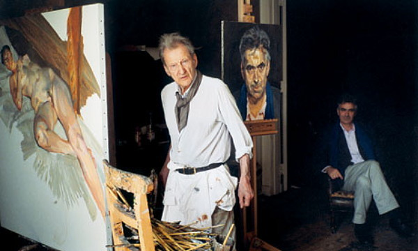 Lucian Freud with Martin Gayford in  2010. Photograph: David Dawson
