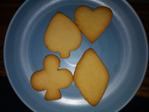 Sugar cookies I baked a while ago.