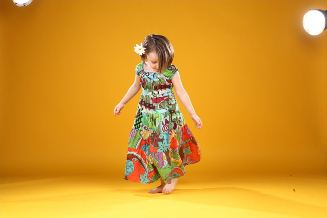 Our adorable Yo Baby model is too cute in this gorgeous cotton dress and exotic print. Perfect for your tiny traveler.