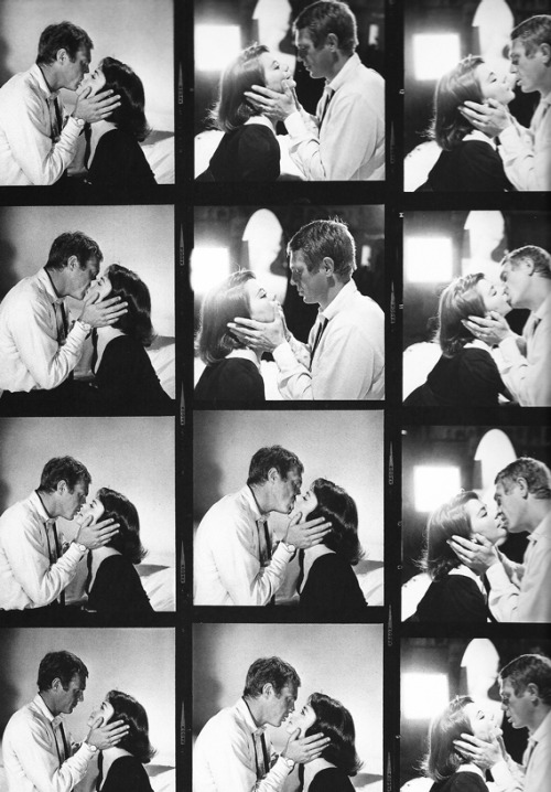 Natalie Wood and Steve McQueen photographed by William Claxton, 1963.