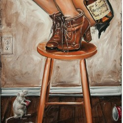 Bottom half of the Rats its Henny #Painting by @Jeremyworst . All master splinter wants is a lil shot of #hennessy lol #instagram (Taken with instagram)