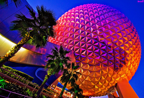 Did you know? Spaceship Earth is 164 feet in diameter and could fit completely  inside the tank of The Living Seas, which is 203 feet in diameter.