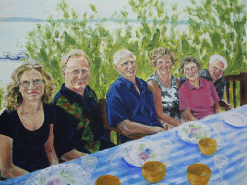 Family Portrait Oil on Canvas18x24 This is a commission piece I finished in November.