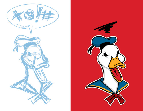starline:  starline:  I entered Threadless' Donald Duck T-Shirt Design Challenge today! If you like this design please rate it a 5!  The contest ends the day before my birthday, so it would be really sweet to win this one! (Grand prize is $2000 and some other goodies.)    Promoting this once again. If you haven't voted already, please please do so. Cheapest b-day present ever. :D