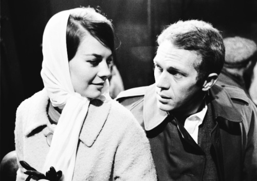 youngfirstlady:  Natalie Wood and Steve McQueen on the set of Love With The Proper Stranger, 1963.