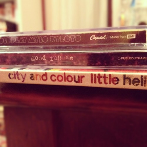 Christmas CDs.  (Taken with instagram)