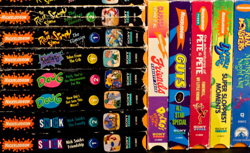 wehavethefactsandwerevotingyes:  some of my nickelodeon on vhs.