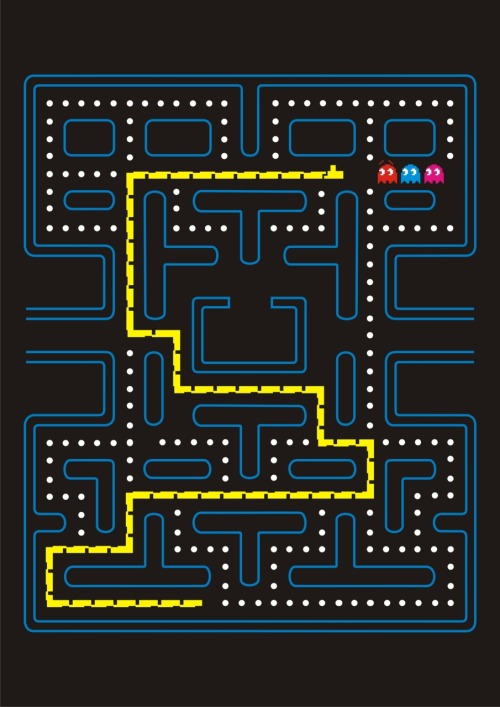 This is another of my new designs, Snake combined with Pac-Man….Pac-Snake maybe, or Snake-Man?