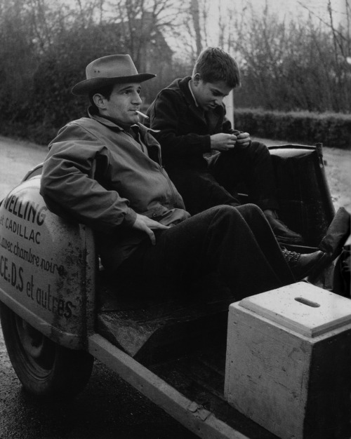 tarkowski:  François Truffaut & Jean-Pierre Léaud on the set of Les Quatre Cents Coups