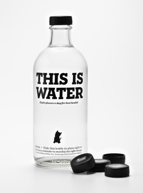 visualgraphic:  divisionxvi:  via lovelypackage.com  This is water