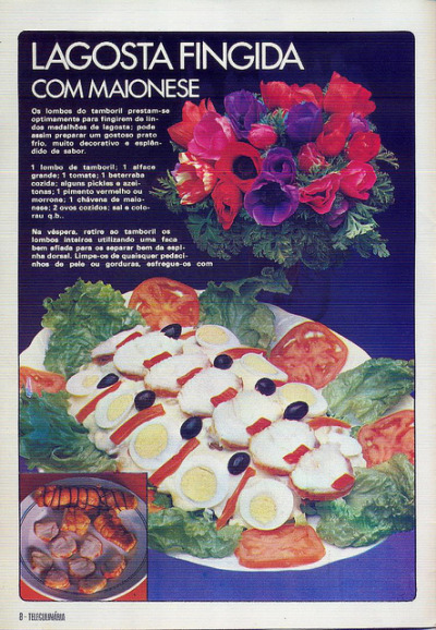 A Portuguese egg salad, 1979. -via willyoulookatthat