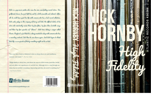 High Fidelity by Nick Hornby - Book cover design