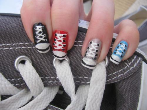dynamite-with-a-laserbeam:  converse nails~!~