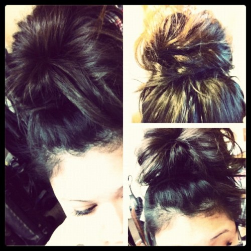 Messy/lazy #hair 🙆 yet still #cute ✨… #bun #updo (Taken with instagram)