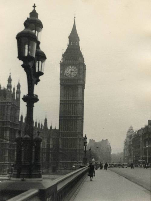 Grey moring in London, 1950s