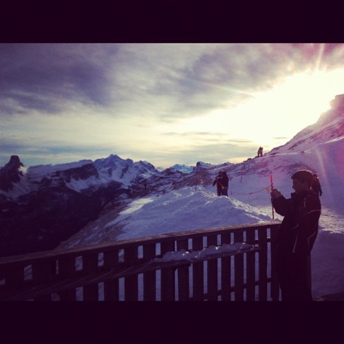 #sunset#cortina#snow#alps (Taken with instagram)
