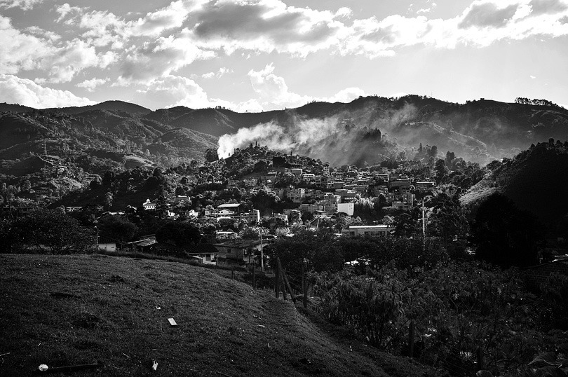 ENVIGADO. Mountain scenery around one of the neighborhoods.