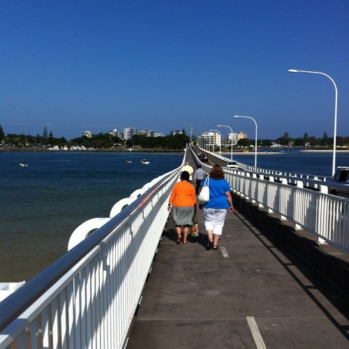 The #bridge connecting the #twin #cities of #Forster and #Tuncurry. With Forster in the distance. =]. #nofilter #summer #coast #water #town #city #architecture #road #people #walking #walkway #cars #traffic #holiday #ig #igers #instagram #instagramhub #iphoneography #thislittlerainbowduck #getitapart #water #river #ocean (Taken with instagram)