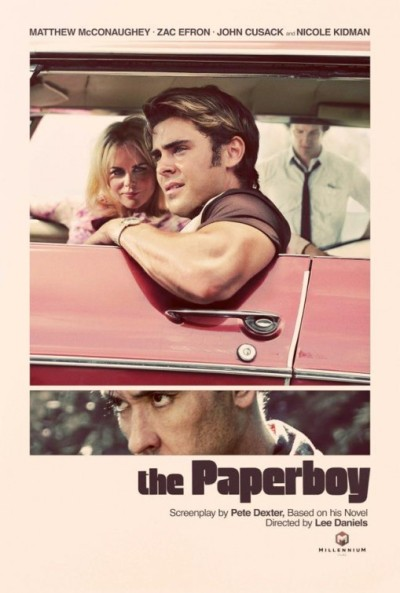 """The Paperboy"" poster. Directed by Lee Daniels (Precious) starring Zac Efron, John Cusack and Nicole Kidman"