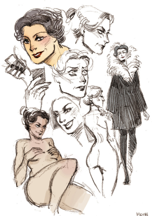 mechinism:  i'm a little bit in love with irene adler so here are some sketches from my sketchbook a;lskdjfakld i'm so rusty