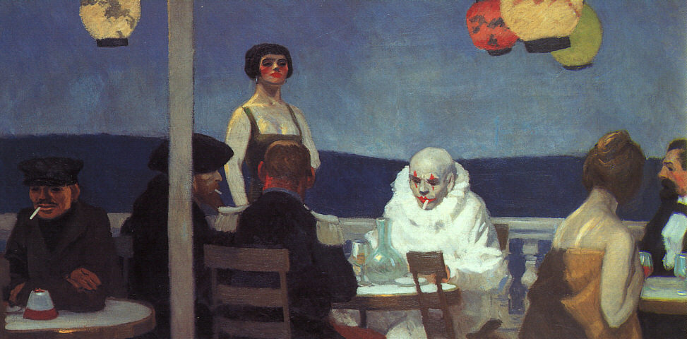 toomuchpossibility:  Edward Hopper. Soir Bleu. 1914  all time top ten for me.
