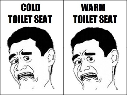theclearlydope:  I want my toilet seat at room temp.