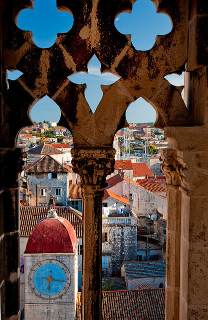 ysvoice:  | ♕ |  View from Bell Tower - Trogir, Croatia  | by © John & Tina Reid