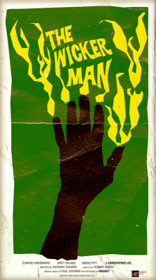 Poster I designed for The Wicker Man (1973). The best British film ever.