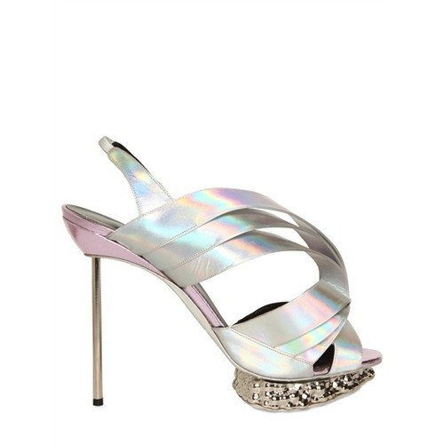 shoewonk:  How amazing are these Paco Rabanne Pearlized Sandals?  Get them at @LuisaViaRoma.