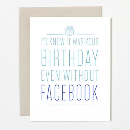 Funny birthday greeting card