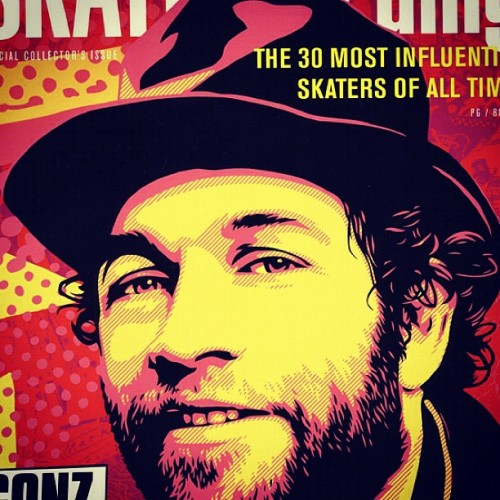 Cover done by Shepard Fairey #obey 30 most influential Skaters of all time (Taken with instagram)
