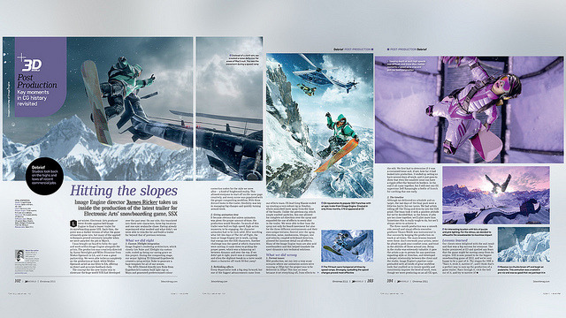 A 3 page spread in 3D World Magazine, issue #150. Interview and breakdown for the SSX E3 Trailer . Awesome!