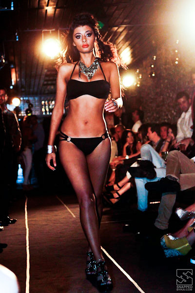 coco riche swimwear parade at hugo's lounge, sydney, australia