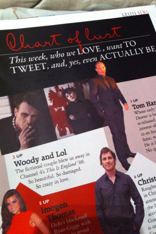 @Vicky_McClure Arh Lol & Woody even made it into #Grazia this week! #blessem! x