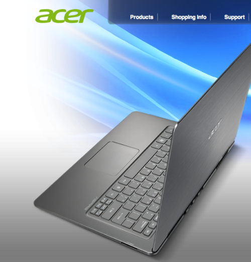 Acer Aspire S3: Acer have been making low cost, affordable laptops for years. Here's one they've made that would appear, on the face of it, to take some (perhaps even all?) of its design cues from the Asus Zenbook, sorry I mean the Lenovo IdeapPad 300s. They all look like the MacBook Air. FUNNY THAT.