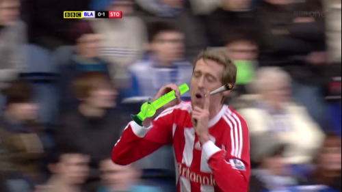 imaginarycards:  Peter Crouch is smoking a spliff and doing a bong.