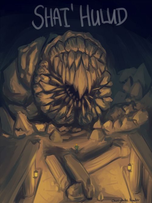 cheesydicks:  BIG Shai'Hulud. Feels good to revisit drawings amirite? OLD VERSION You can spot HSG dwarfed by his denizen.