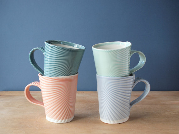 (via mugs pick your color by villarrealceramics on Etsy)