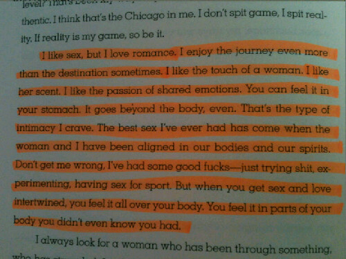 "Thoughts on Love & Sex. My friend showed me this excerpt from Common's Book, ""One Day it'll All Make Sense"". Ironically Common and I, share not only similar thoughts but the also same birthday ."