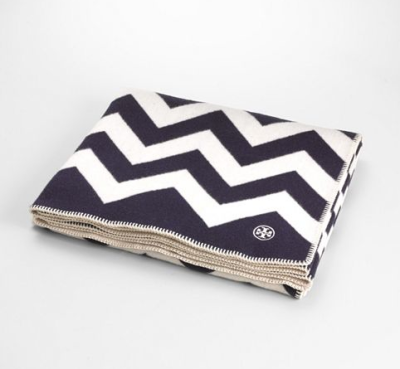 Because bundling up never looked so good.  Tory Burch Chevron Blanket.