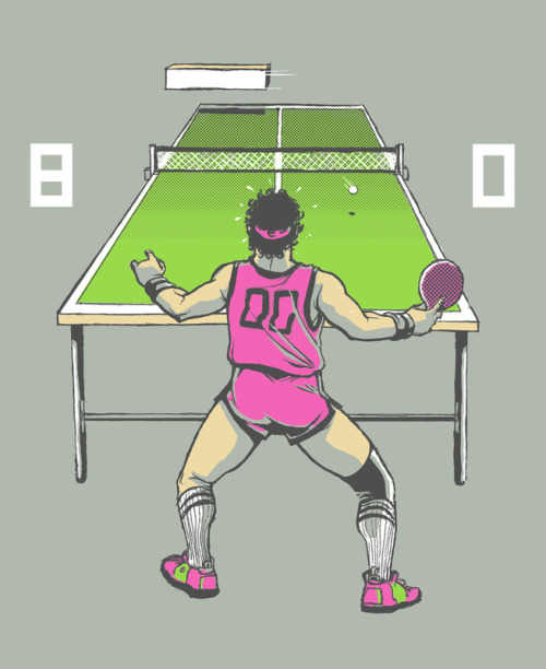 A rendition of 1975 insanelygaming:  The Ping Pong Championship - by Michael B. Myers Jr. Website || Twitter || Facebook Available on Society6