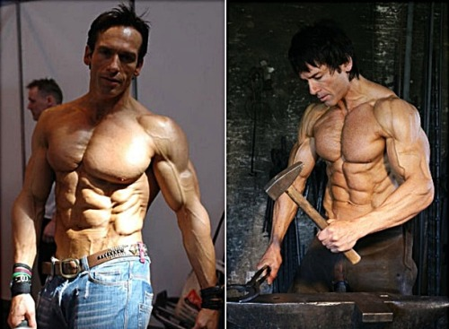 Shredded at 44 years old Fitness Model Helmut Strebl Talks :  At 12 years old, I was a skinny weakling and an easy prey for bullies  as I stood out in absolute contrast to a schoolmate who was a muscle  machine. At first, I got into lifting weights only to protect myself.  But soon, I was also determined to put myself on a physical par with  this schoolmate, my odd twin. Here was wishful thinking. From it, there  came my dream of becoming a fitness model. I liked weightlifting from  the start. My first pair of weights was five kilos a piece. This was two  bottles of washing detergent, filled with water though. I did not have  proper dumbbells until a few years later. I was 16 years old when I  joined my local gym. From early on, high aspirations and mental  conditioning have been the keys to my life in fitness training and  competition.